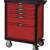 KSTOOLS - Servante PEARL line rouge, 5 tiroirs - 809.0005