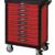 KSTOOLS - Servante PEARL line rouge, 9 tiroirs - 809.0009