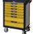 KSTOOLS - Servante PEARL line grise et jaune, 7 tiroirs - 814.0007
