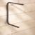 "MOTTEZ - Crochet en ""U"" longueur 400/300mm tube carré 25/25 - F120V"