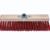 TOPCAR - Balai cantonnier synthétique rouge 40cm douille métal diamètre 28 - 020628